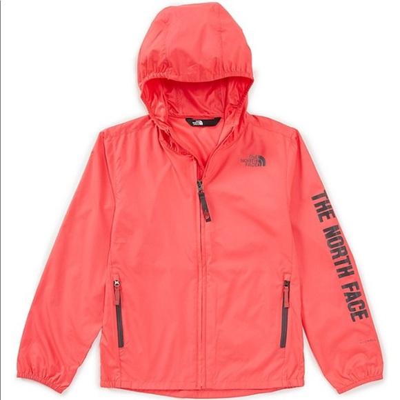 Girls size M hot pink North Face windbreaker